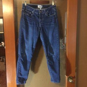 Paige Verdugo crop dark wash stretch jeans
